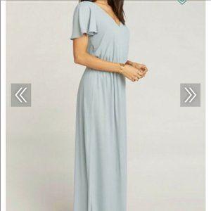 SHOW ME YOUR MUMU Michelle Maxi Dresses STEEL BLUE
